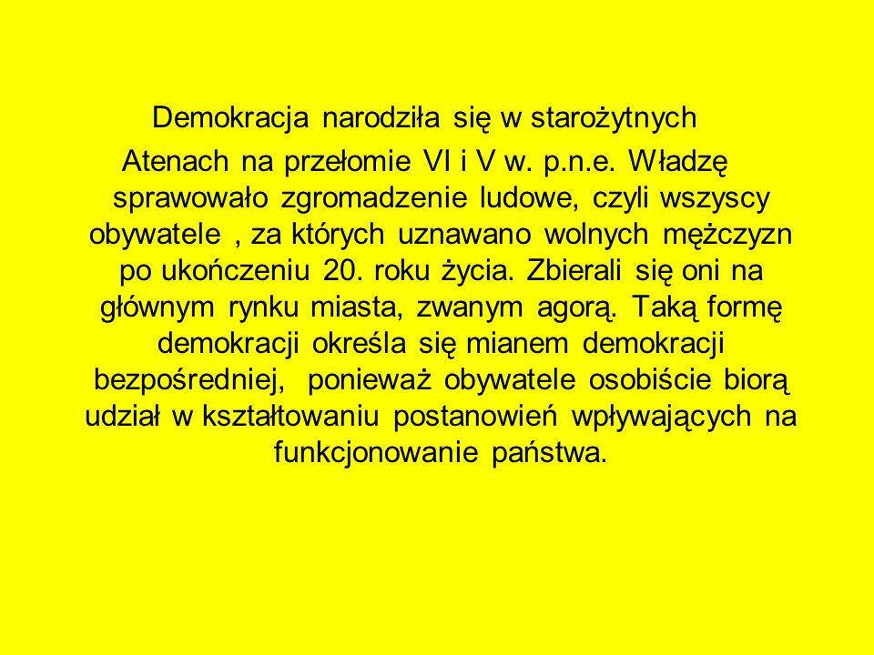 Demokracja narodziła się w starożytnych