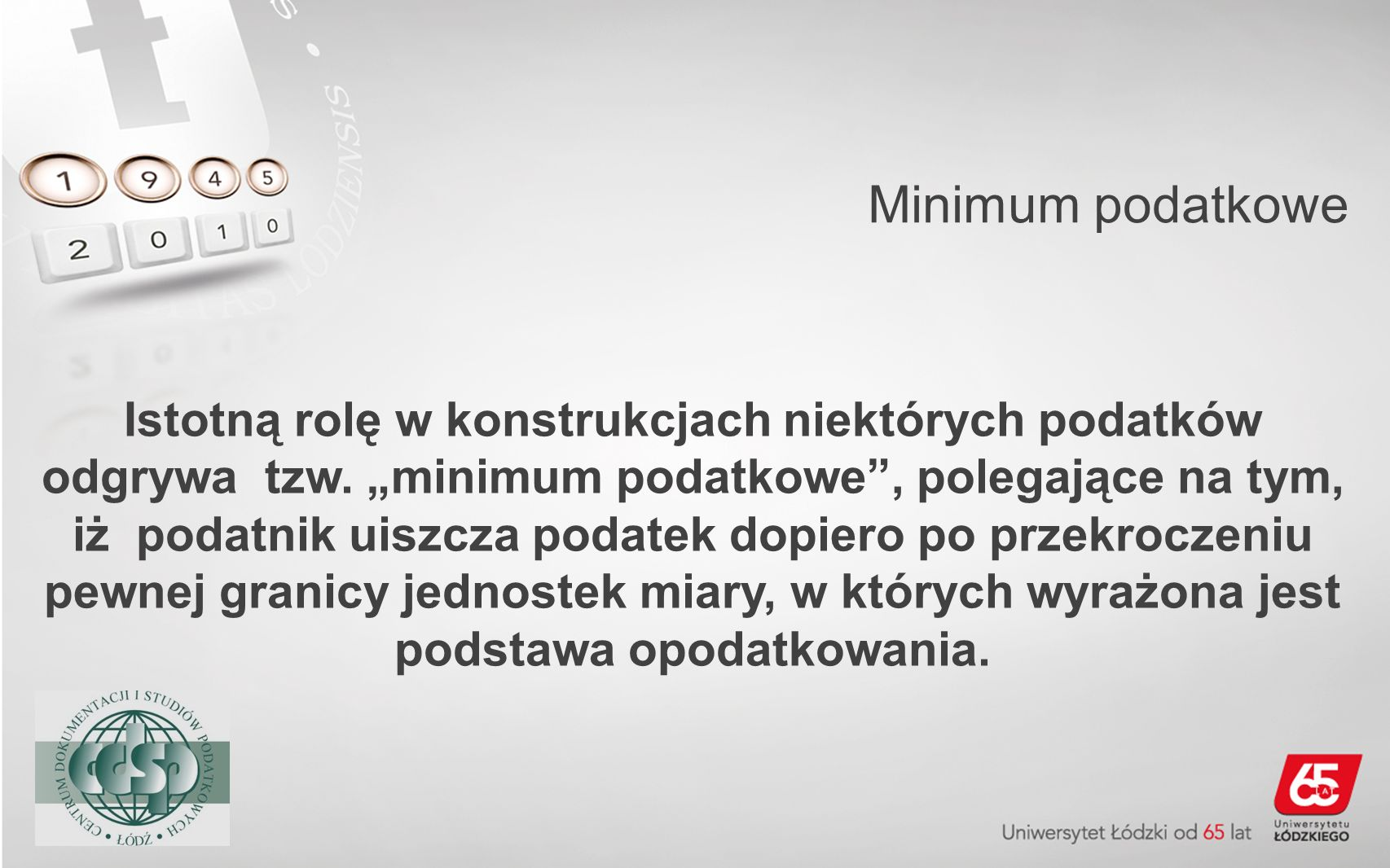 Minimum podatkowe