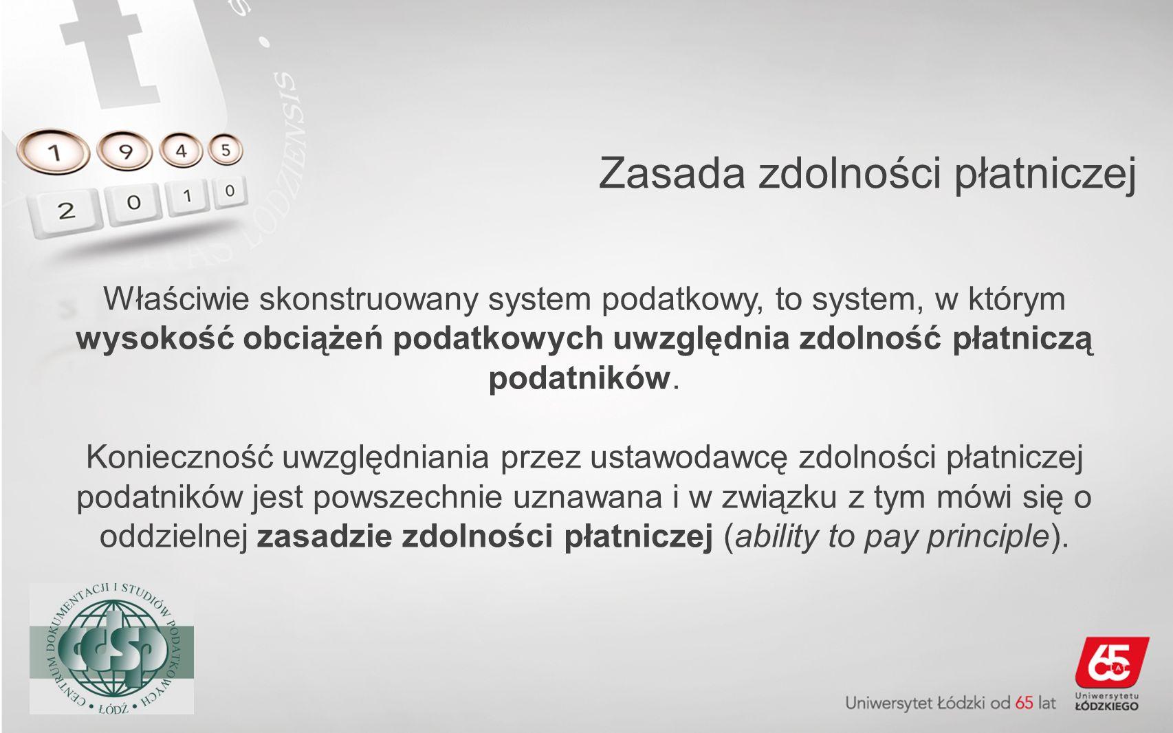 Zasada zdolności płatniczej