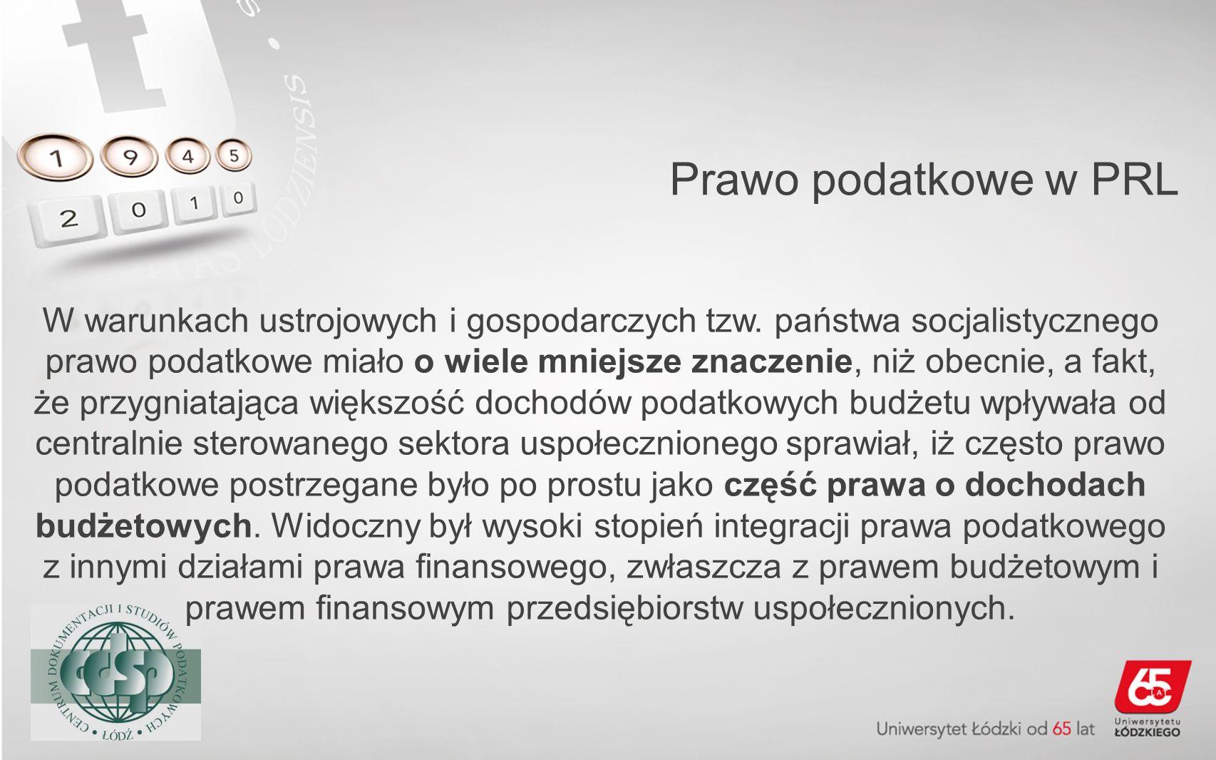 Prawo podatkowe w PRL