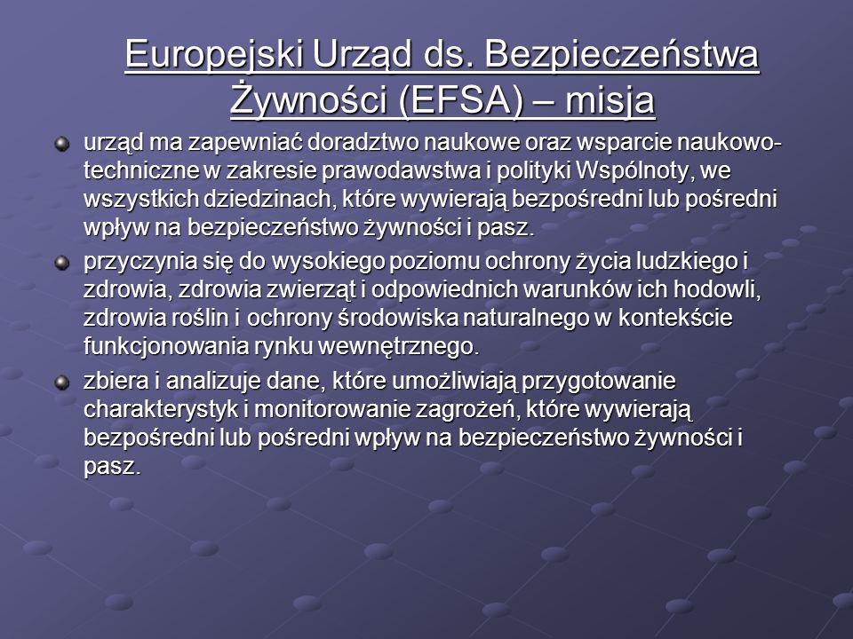 Europejski Urząd ds. Bezpieczeństwa Żywności (EFSA) – misja