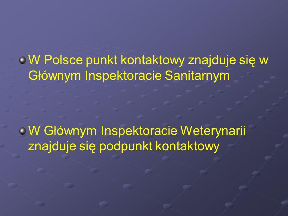 W Polsce punkt kontaktowy znajduje się w Głównym Inspektoracie Sanitarnym