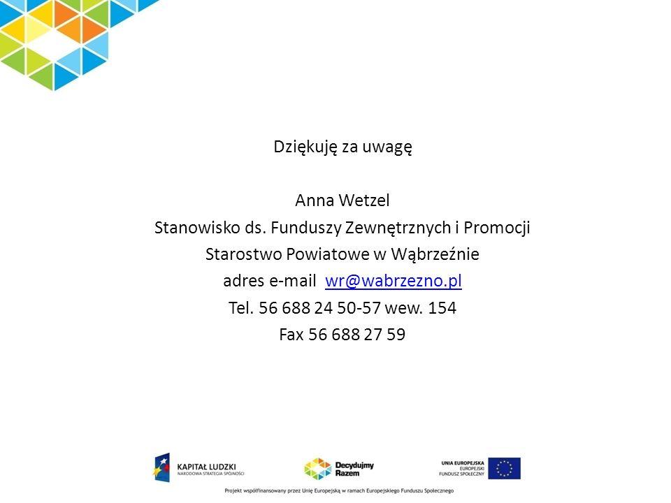 Stanowisko ds. Funduszy Zewnętrznych i Promocji