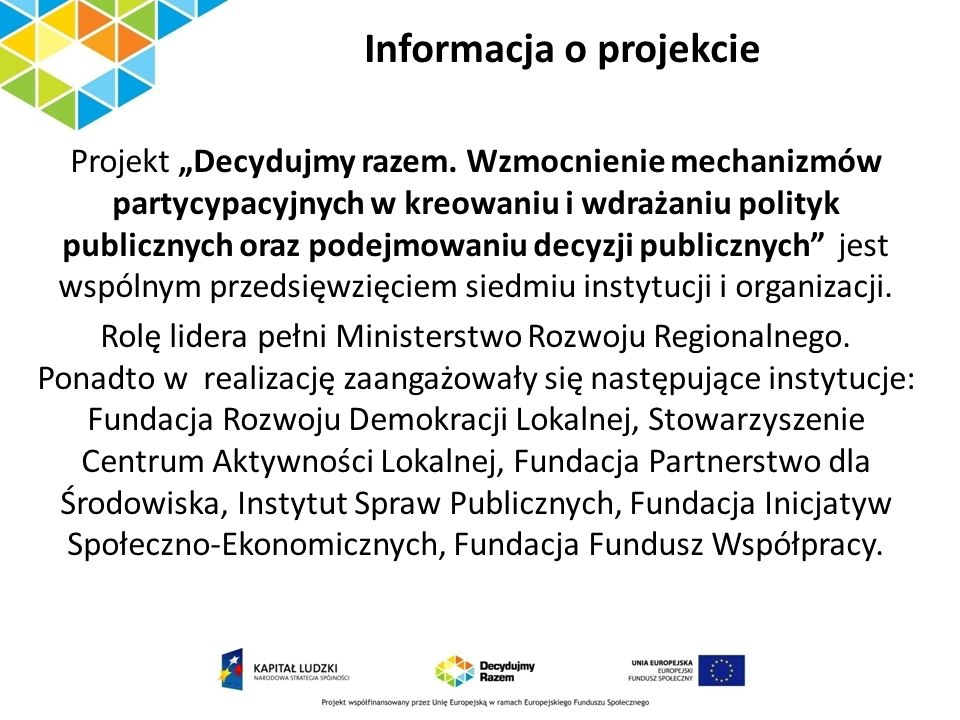 Informacja o projekcie