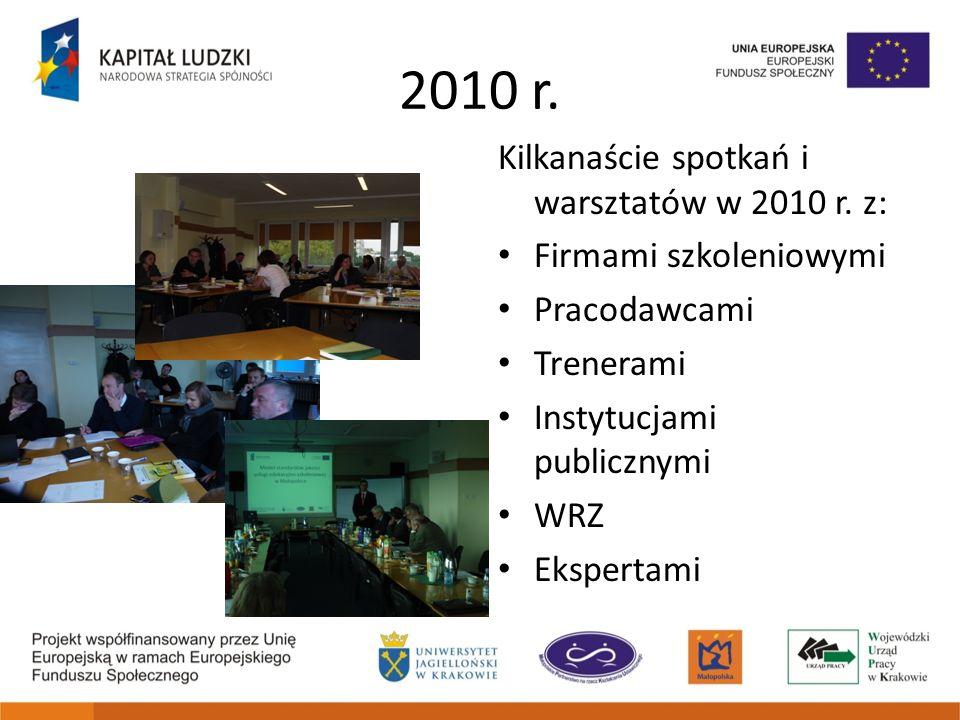 2010 r. Kilkanaście spotkań i warsztatów w 2010 r. z: