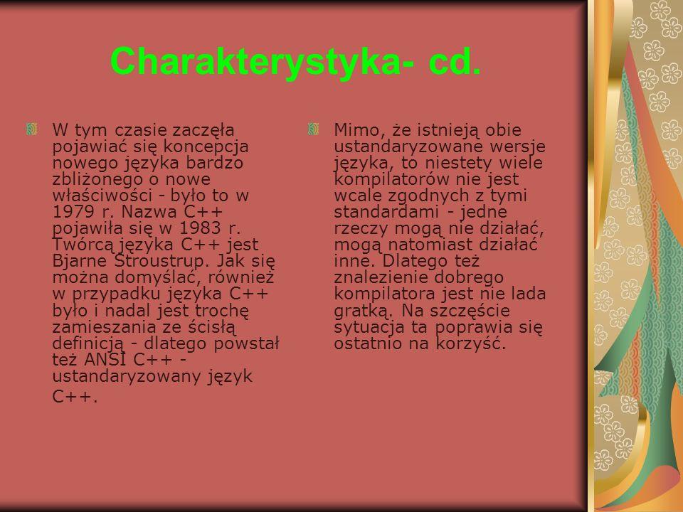 Charakterystyka- cd.