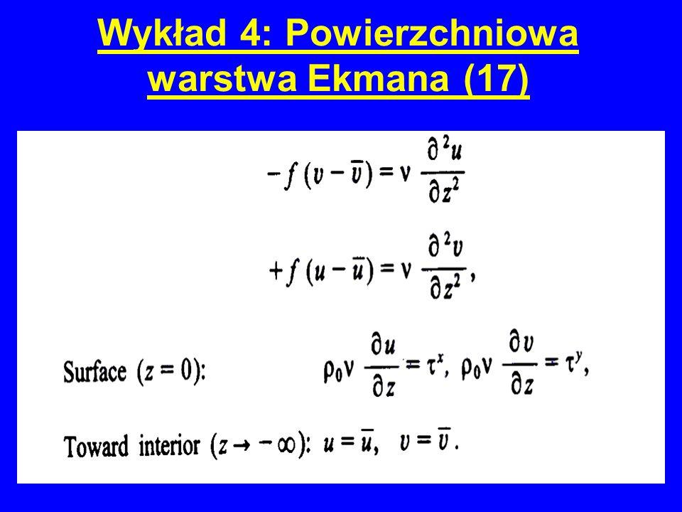 Wykład 4: Powierzchniowa warstwa Ekmana (17)