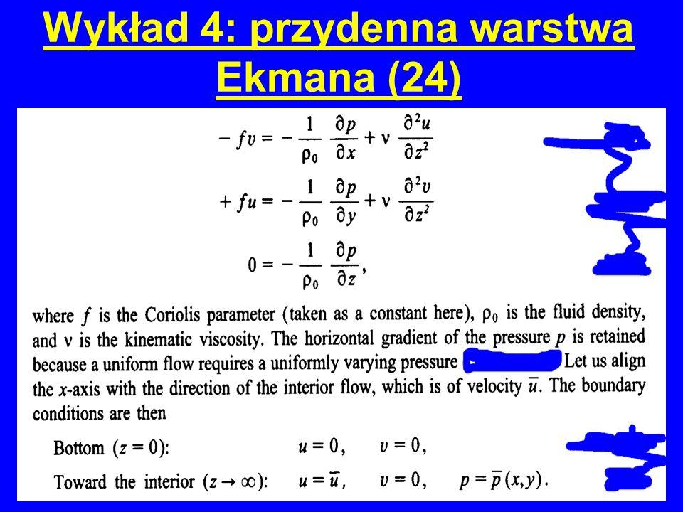 Wykład 4: przydenna warstwa Ekmana (24)