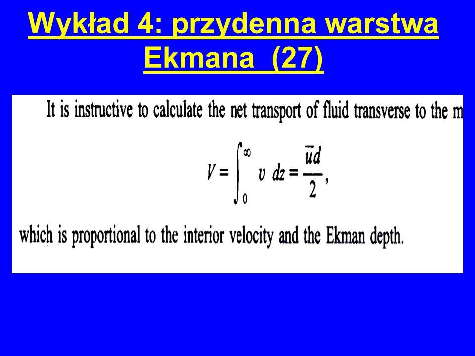 Wykład 4: przydenna warstwa Ekmana (27)