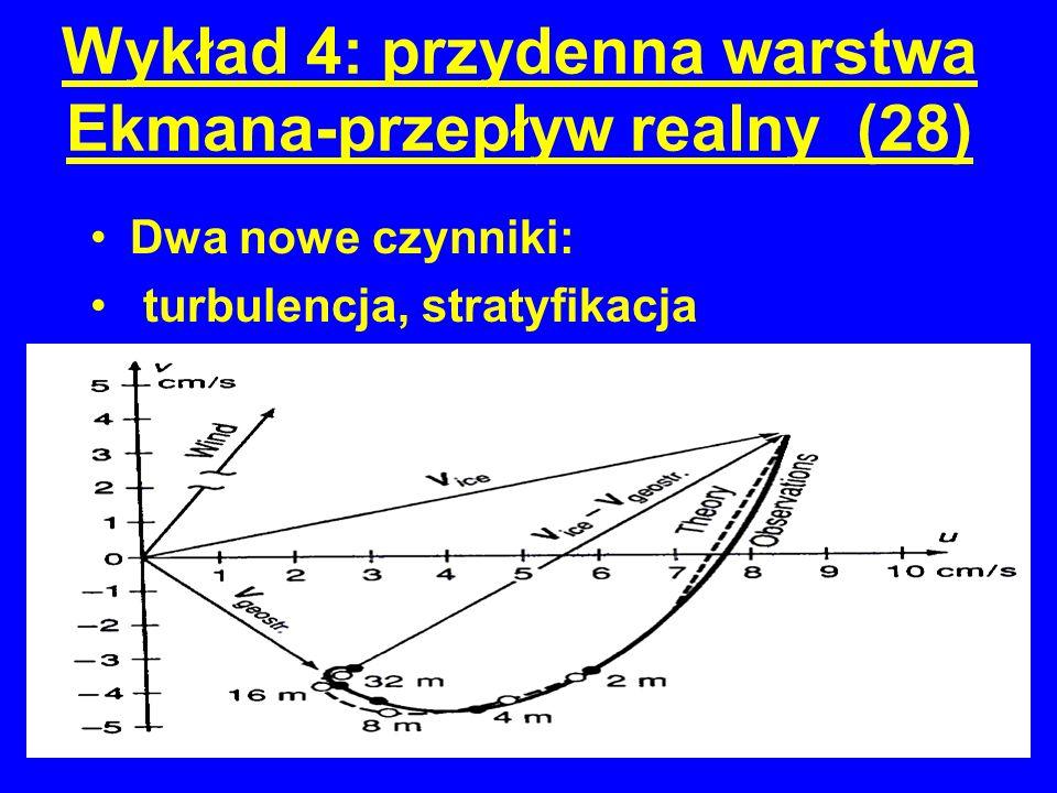 Wykład 4: przydenna warstwa Ekmana-przepływ realny (28)