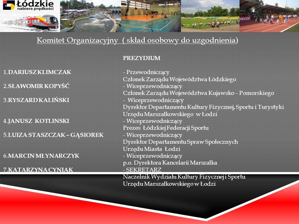 Komitet Organizacyjny ( skład osobowy do uzgodnienia)