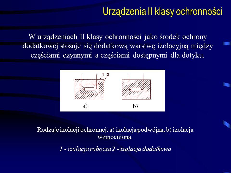 1 - izolacja robocza 2 - izolacja dodatkowa