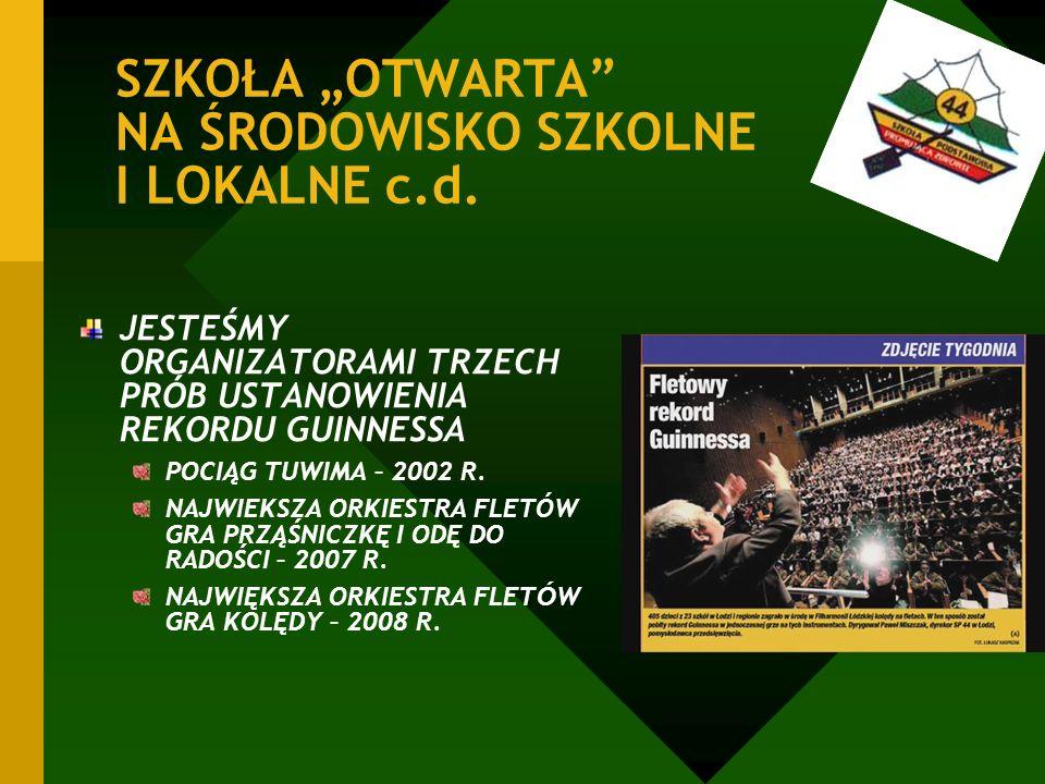 """SZKOŁA """"OTWARTA NA ŚRODOWISKO SZKOLNE I LOKALNE c.d."""