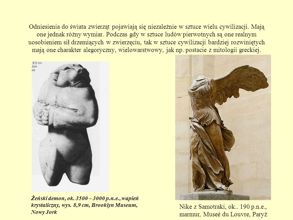 Nike z Samotraki, ok.. 190 p.n.e., marmur, Museé du Louvre, Paryż