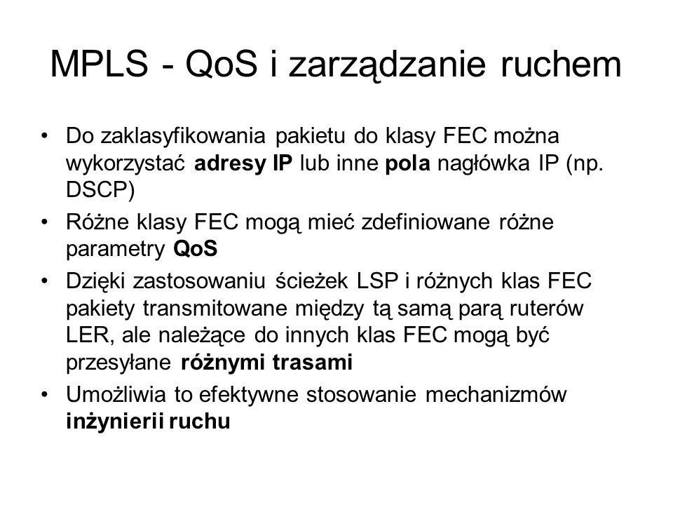 MPLS - QoS i zarządzanie ruchem