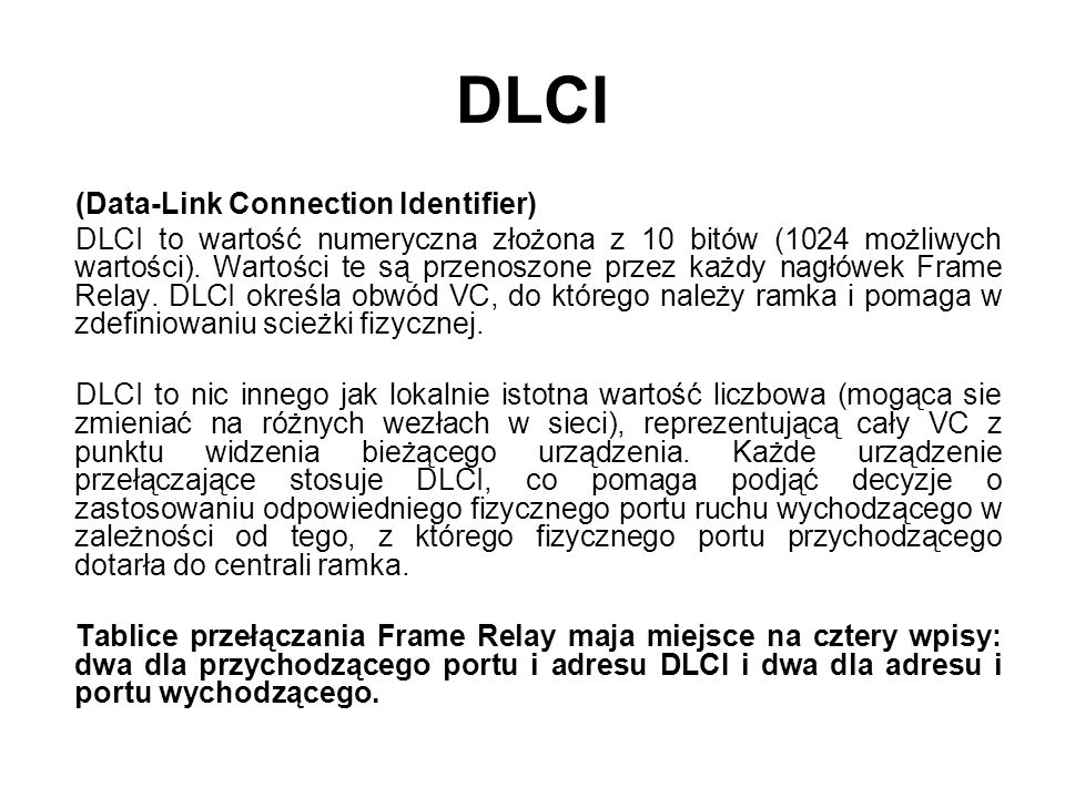 DLCI (Data-Link Connection Identifier)