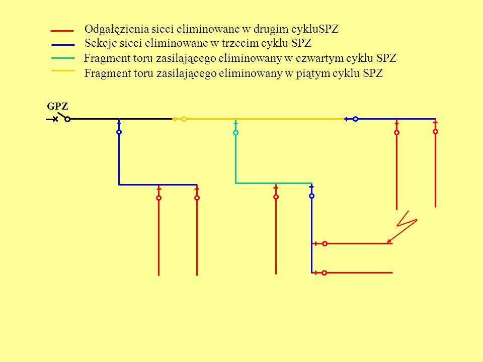 Odgałęzienia sieci eliminowane w drugim cykluSPZ