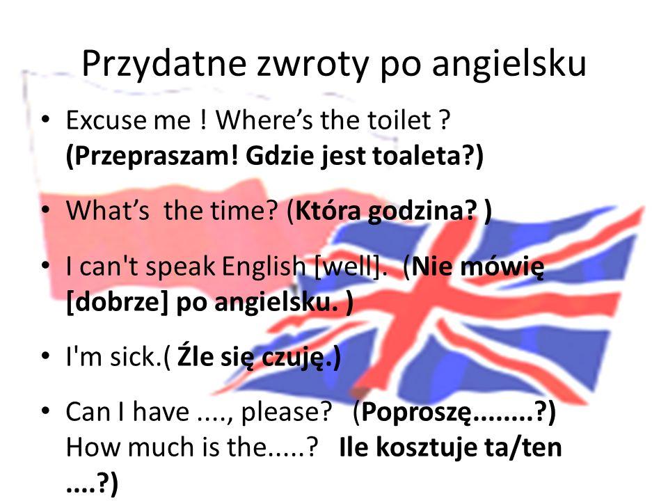 Przydatne zwroty po angielsku