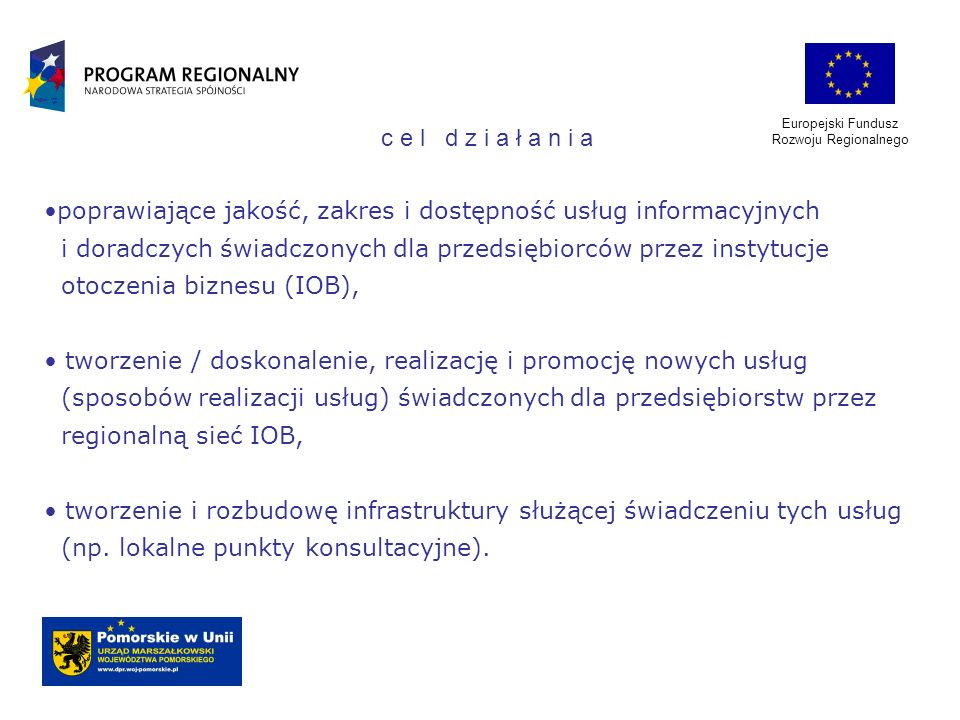 poprawiające jakość, zakres i dostępność usług informacyjnych