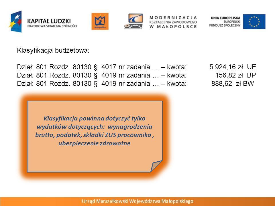 Klasyfikacja budżetowa: