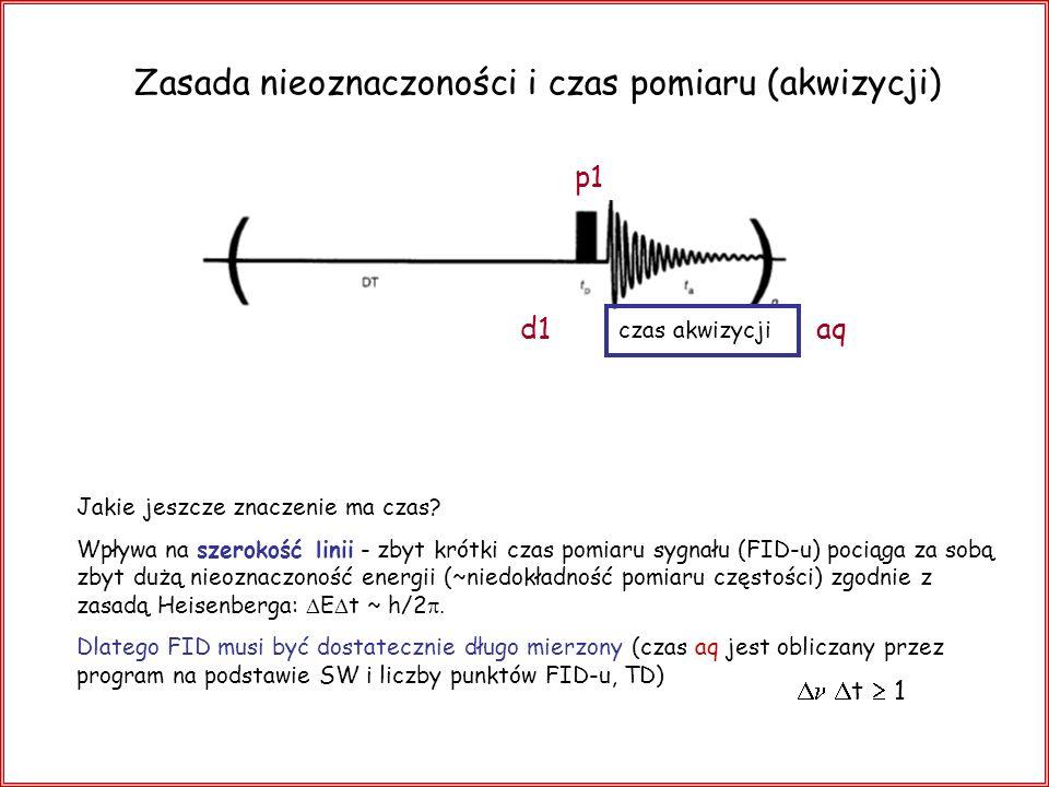 Zasada nieoznaczoności i czas pomiaru (akwizycji)