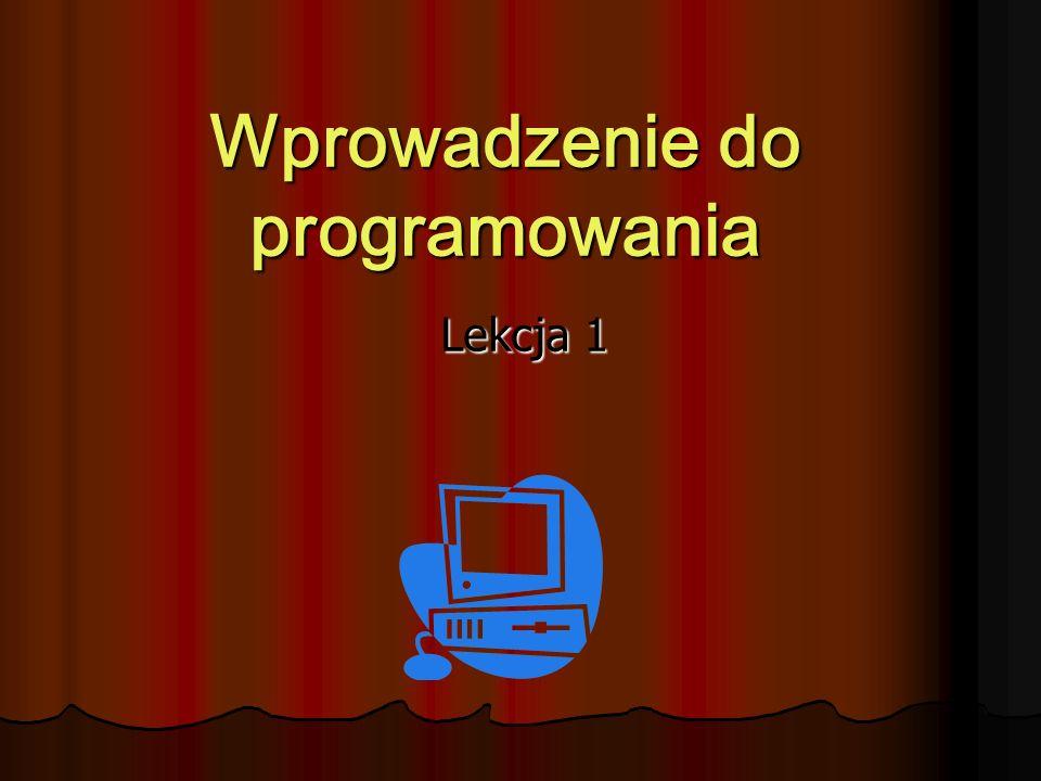 Wprowadzenie do programowania