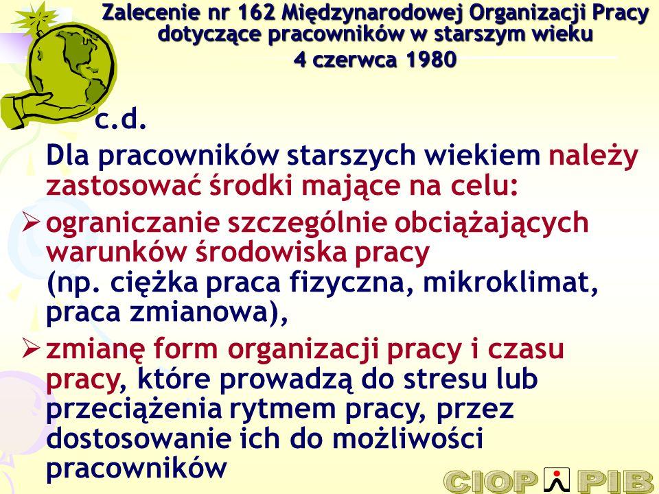 Zalecenie nr 162 Międzynarodowej Organizacji Pracy dotyczące pracowników w starszym wieku
