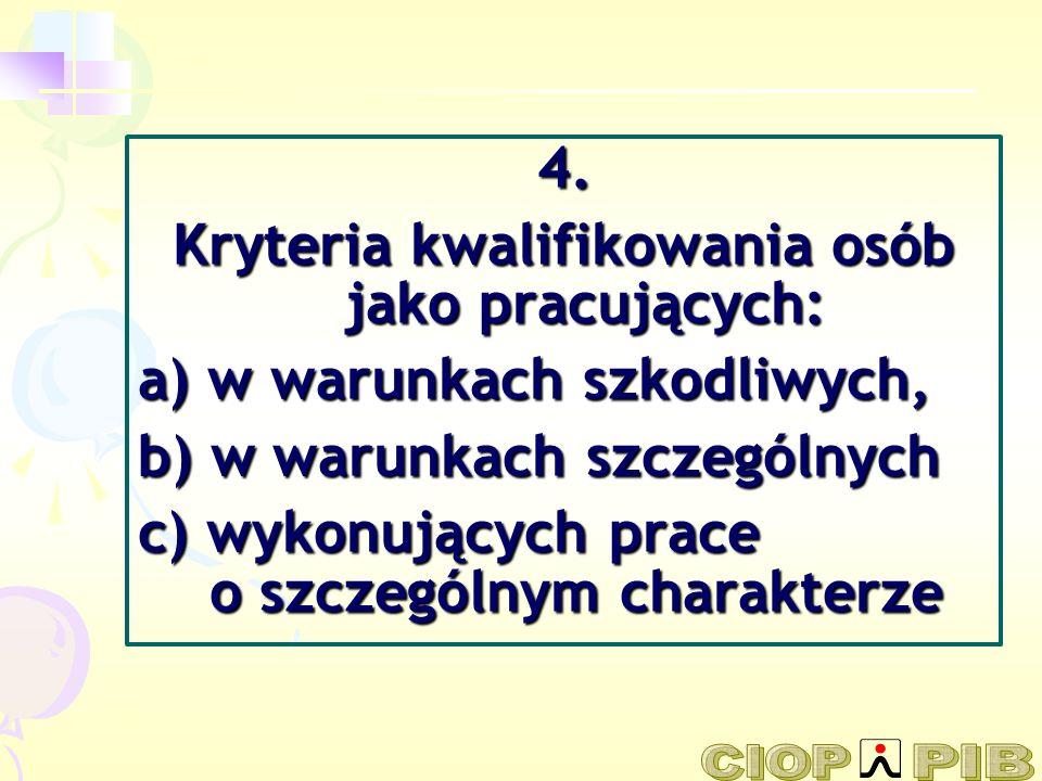 Kryteria kwalifikowania osób jako pracujących: