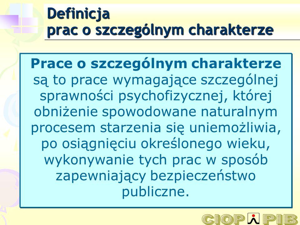 Definicja prac o szczególnym charakterze