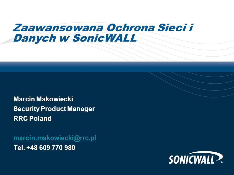 Zaawansowana Ochrona Sieci i Danych w SonicWALL