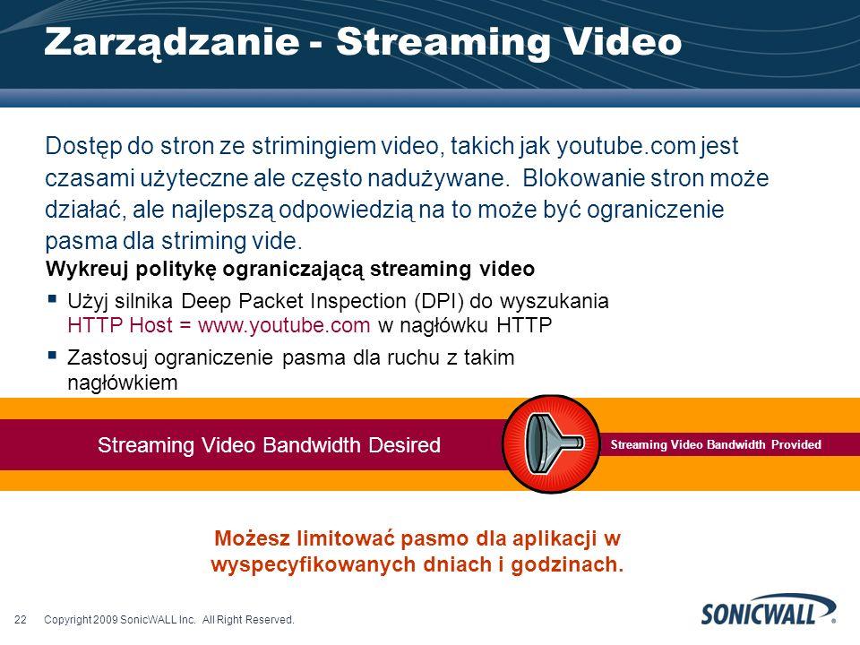 Zarządzanie - Streaming Video