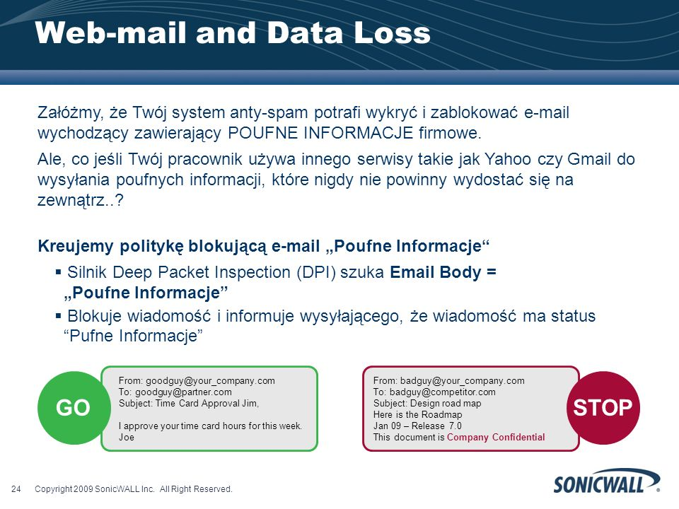 Web-mail and Data Loss GO STOP