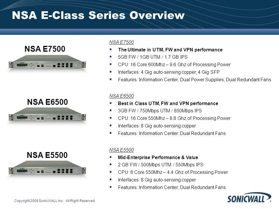 NSA E-Class Series Overview