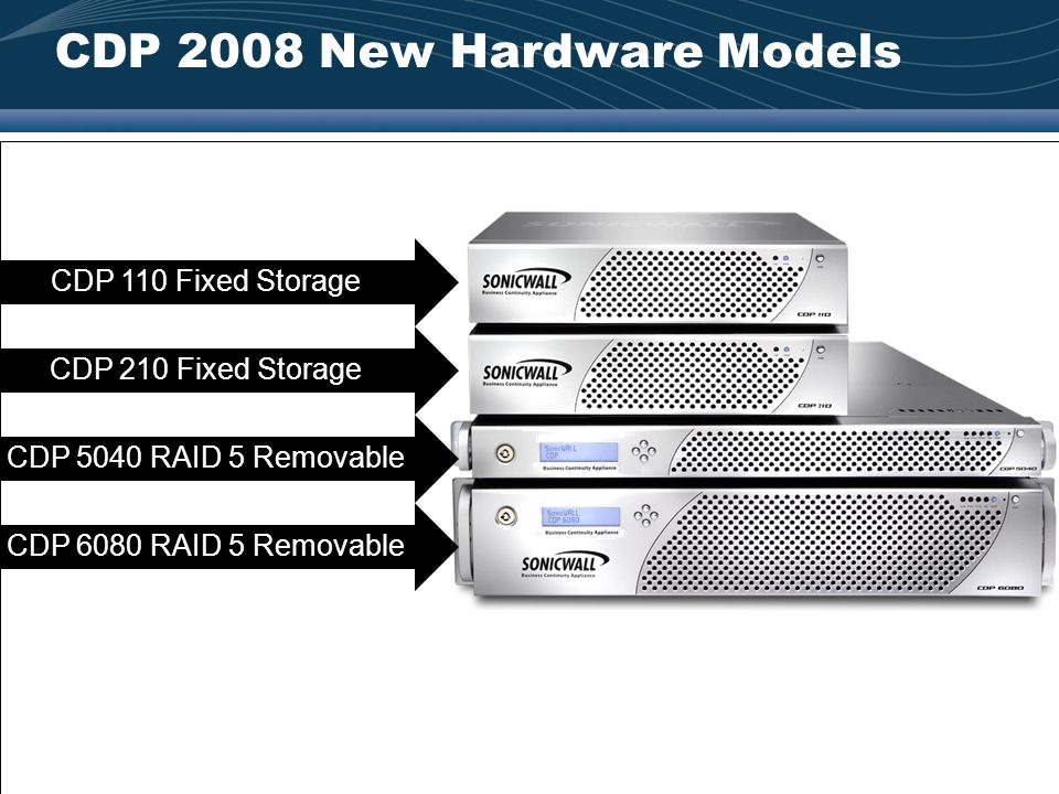 CDP 2008 New Hardware Models