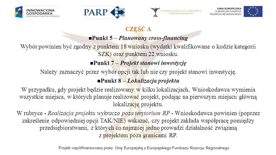 Punkt 5 – Planowany cross-financing