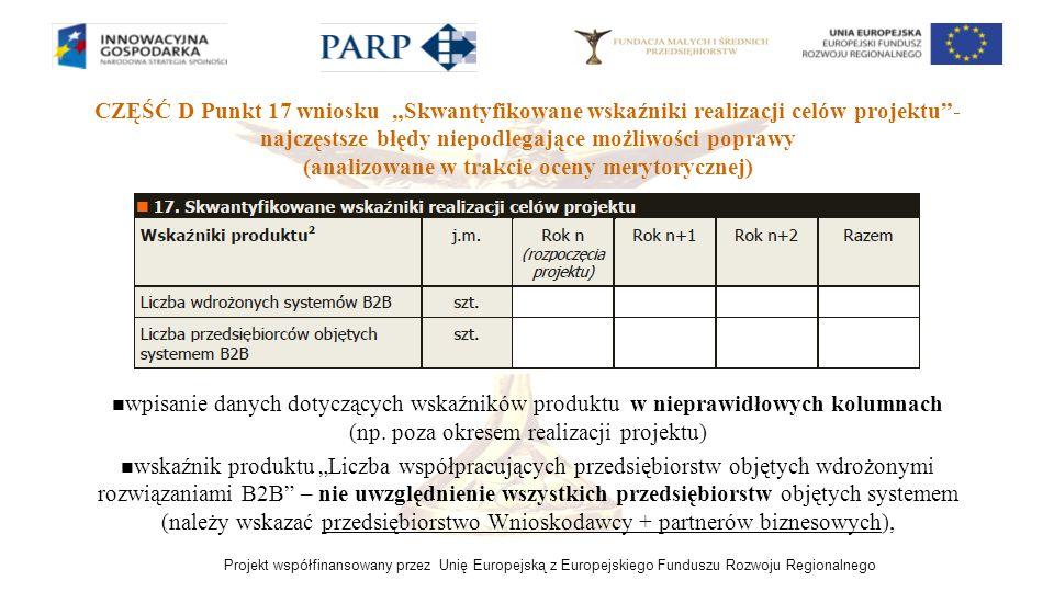 (analizowane w trakcie oceny merytorycznej)