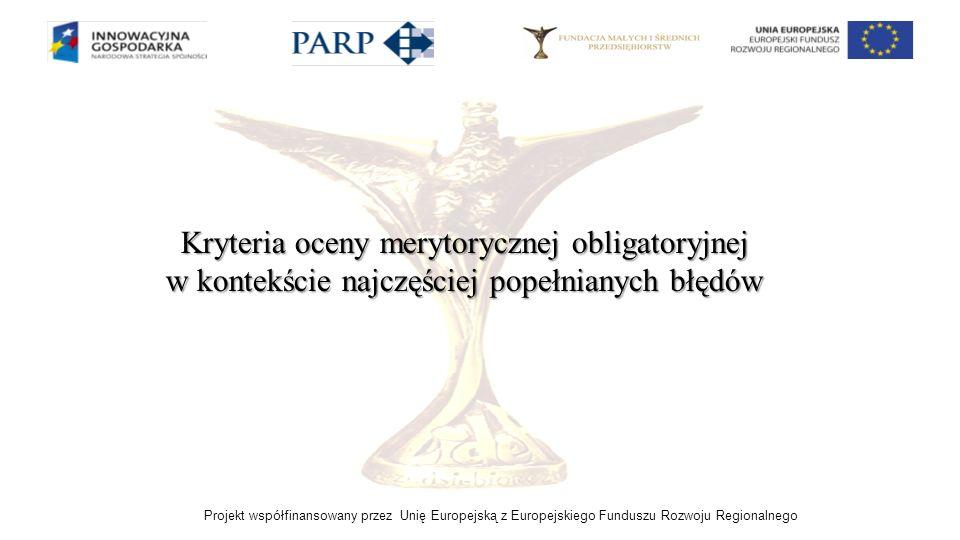Kryteria oceny merytorycznej obligatoryjnej w kontekście najczęściej popełnianych błędów