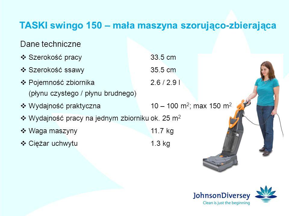 TASKI swingo 150 – mała maszyna szorująco-zbierająca