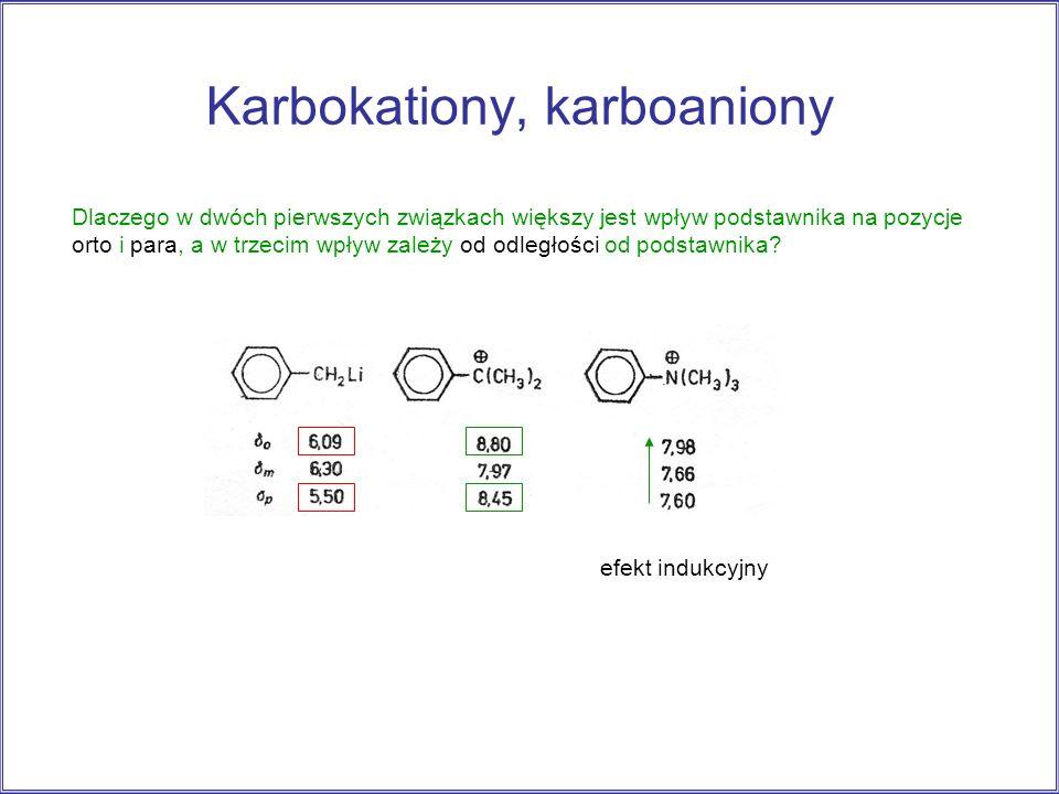 Karbokationy, karboaniony