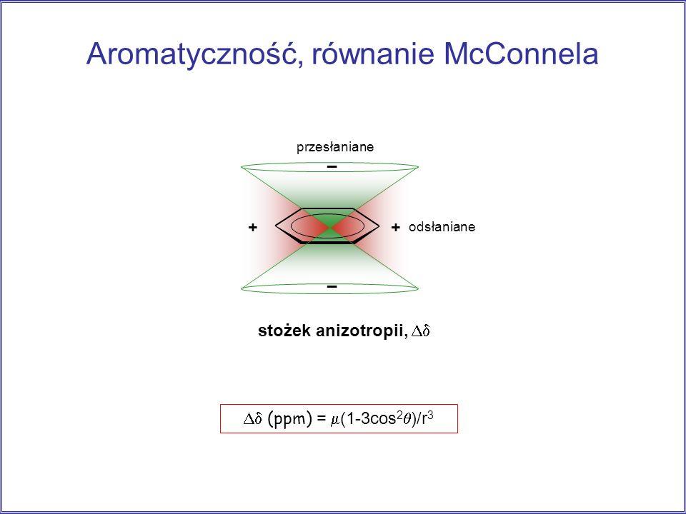 Aromatyczność, równanie McConnela