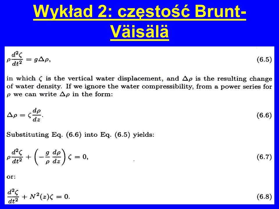 Wykład 2: częstość Brunt-Väisälä