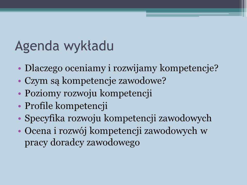 Agenda wykładu Dlaczego oceniamy i rozwijamy kompetencje
