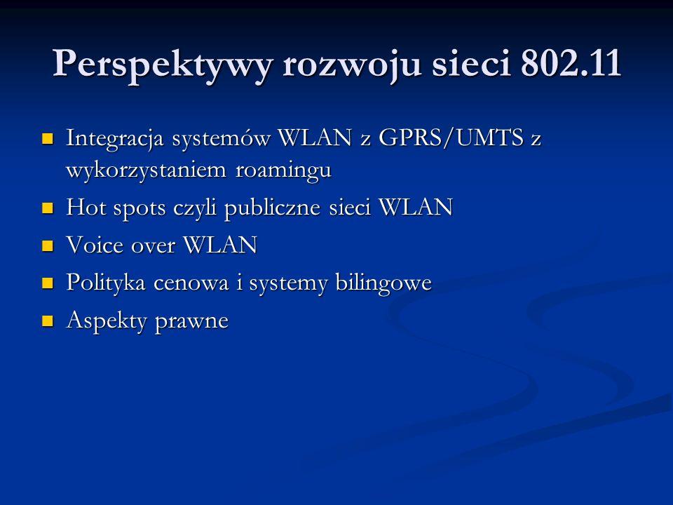Perspektywy rozwoju sieci 802.11
