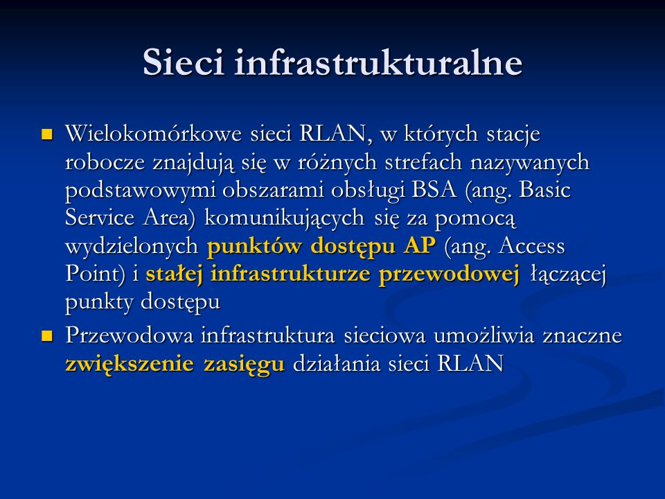 Sieci infrastrukturalne