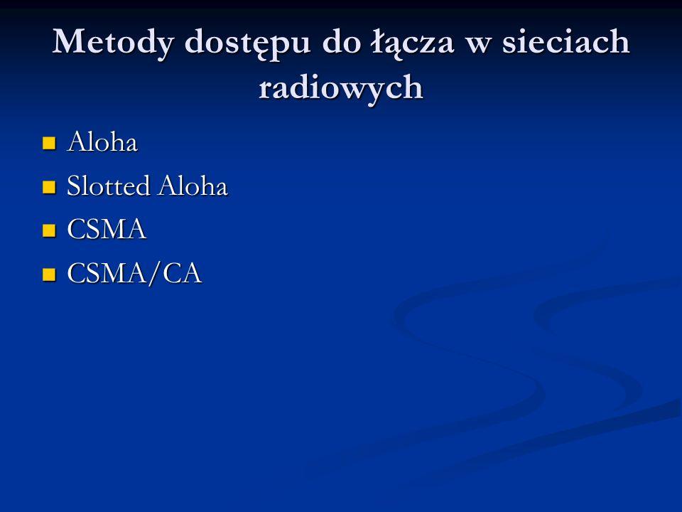 Metody dostępu do łącza w sieciach radiowych