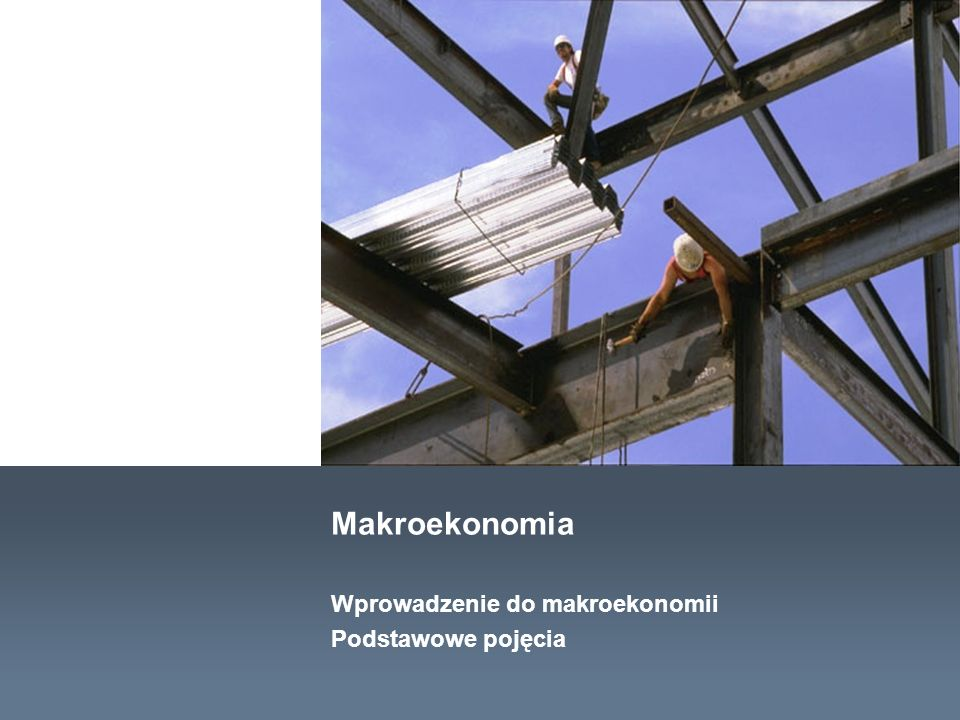 Materiały dydaktyczne Wprowadzenie do makroekonomii Podstawowe pojęcia