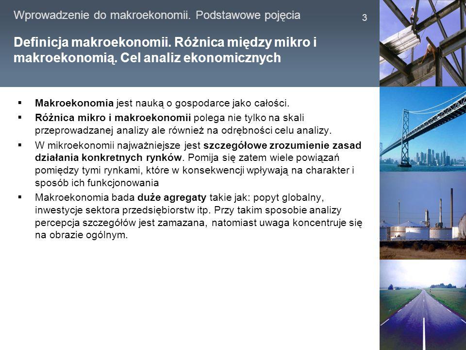 Definicja makroekonomii. Różnica między mikro i makroekonomią