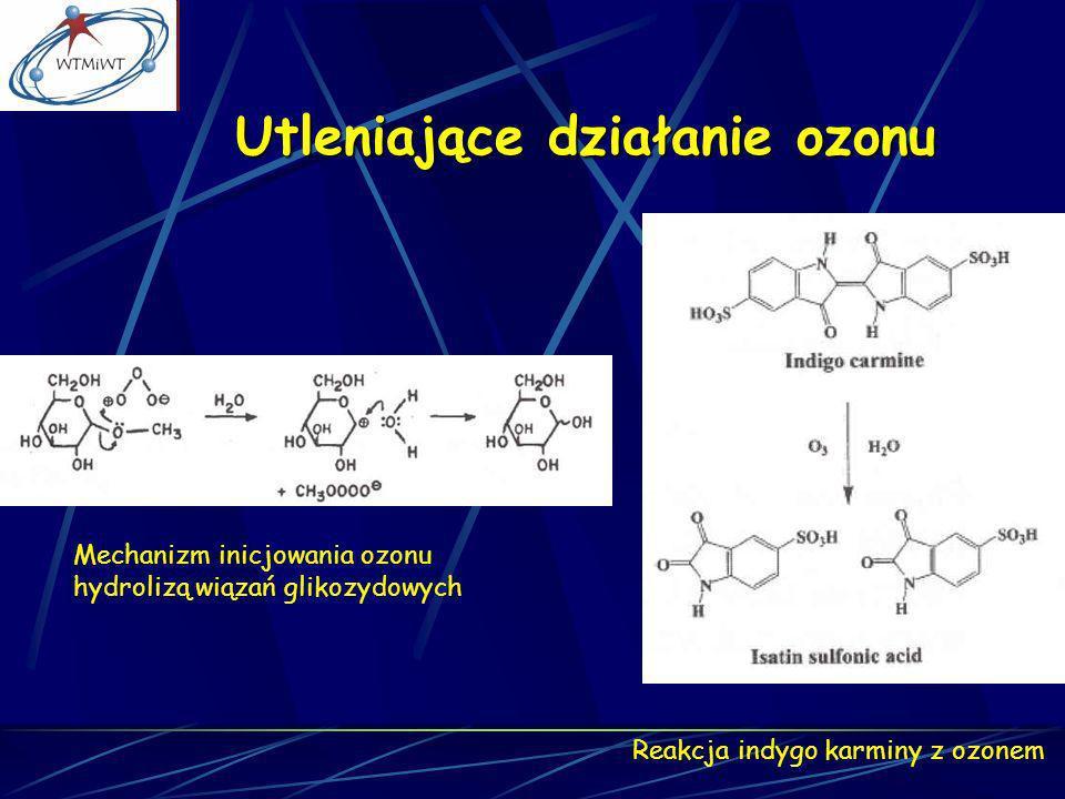 Utleniające działanie ozonu