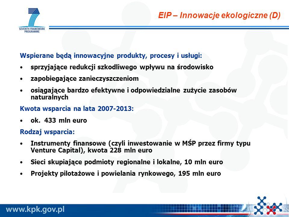 EIP – Innowacje ekologiczne (D)