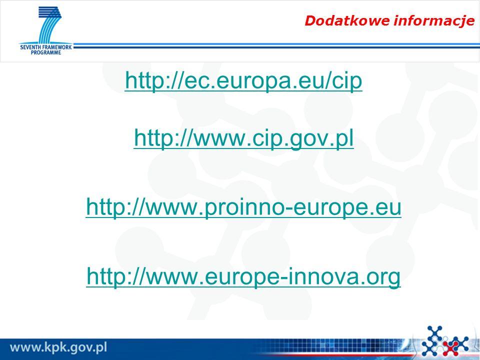 http://ec.europa.eu/cip http://www.cip.gov.pl